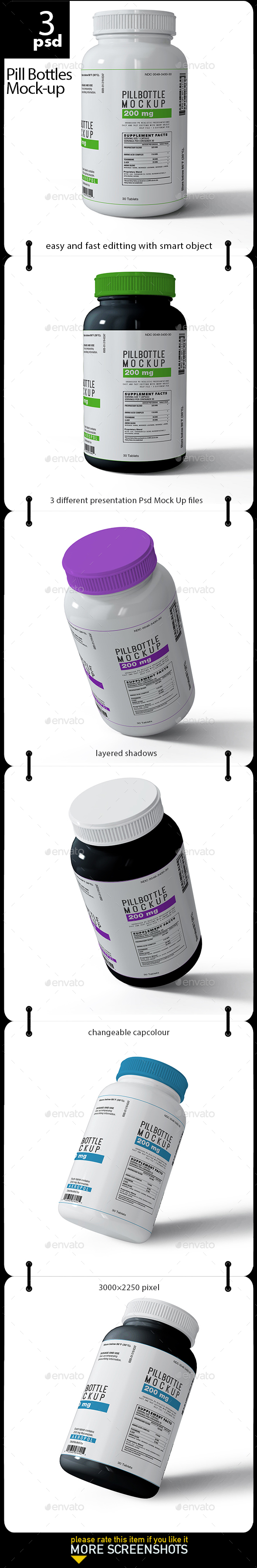 Pill Bottles Mock-up - Miscellaneous Packaging