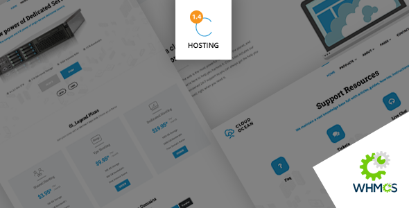 CloudOcean - Responsive Hosting HTML5 & WHMCS7 Template
