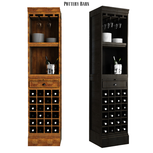 Pottery barn Modular Bar With Wine Grid Tower - 3DOcean Item for Sale