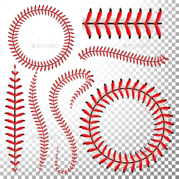 Baseball Stitches Vector Set - Sports/Activity Conceptual