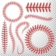 Baseball Stitches Vector Set
