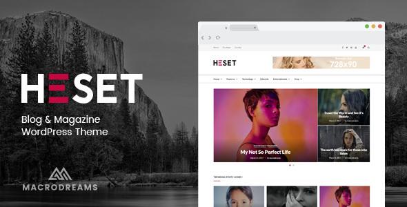 Heset - Blog   Magazine WordPress Theme