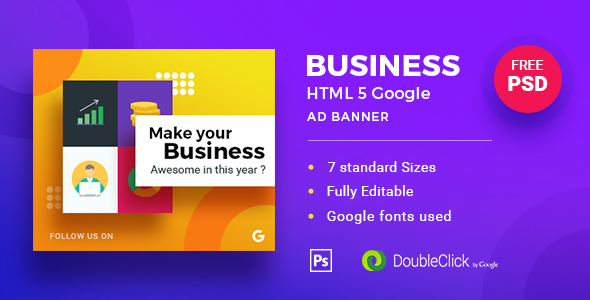 Business | HTML5 Google Banner Ad 19 - CodeCanyon Item for Sale