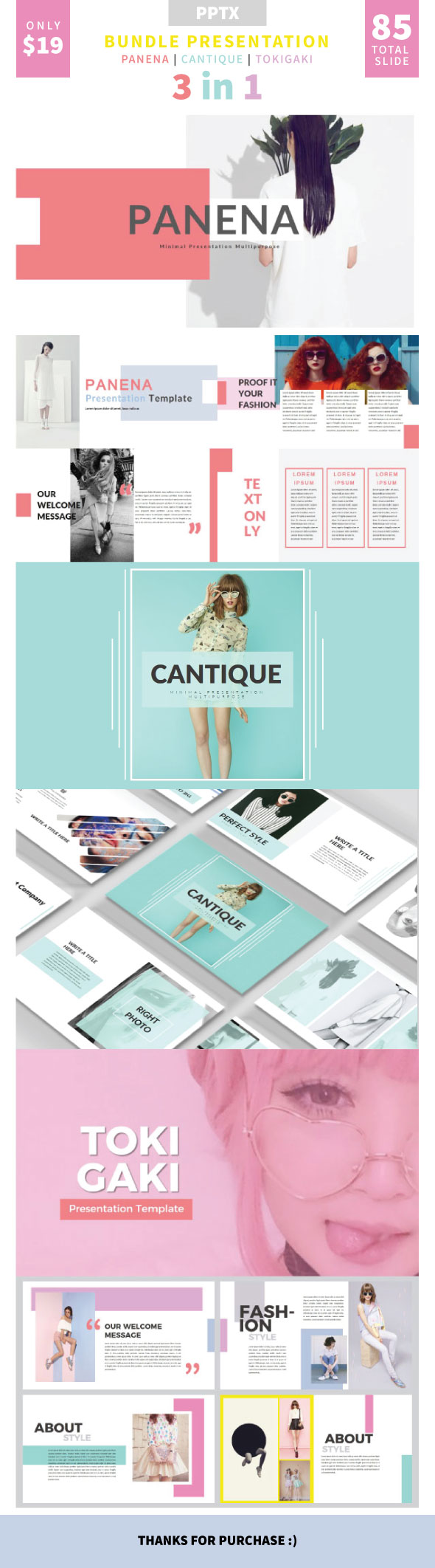 Bundle PPTX 3 In 1 Template - Creative PowerPoint Templates