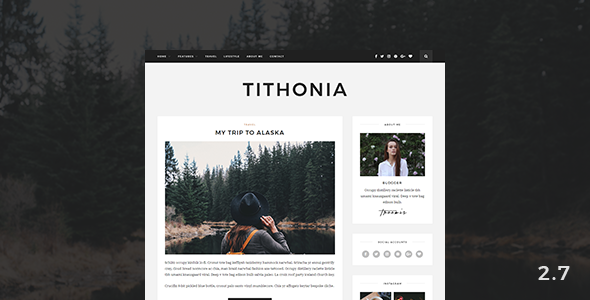 Tithonia - WordPress Blog Theme
