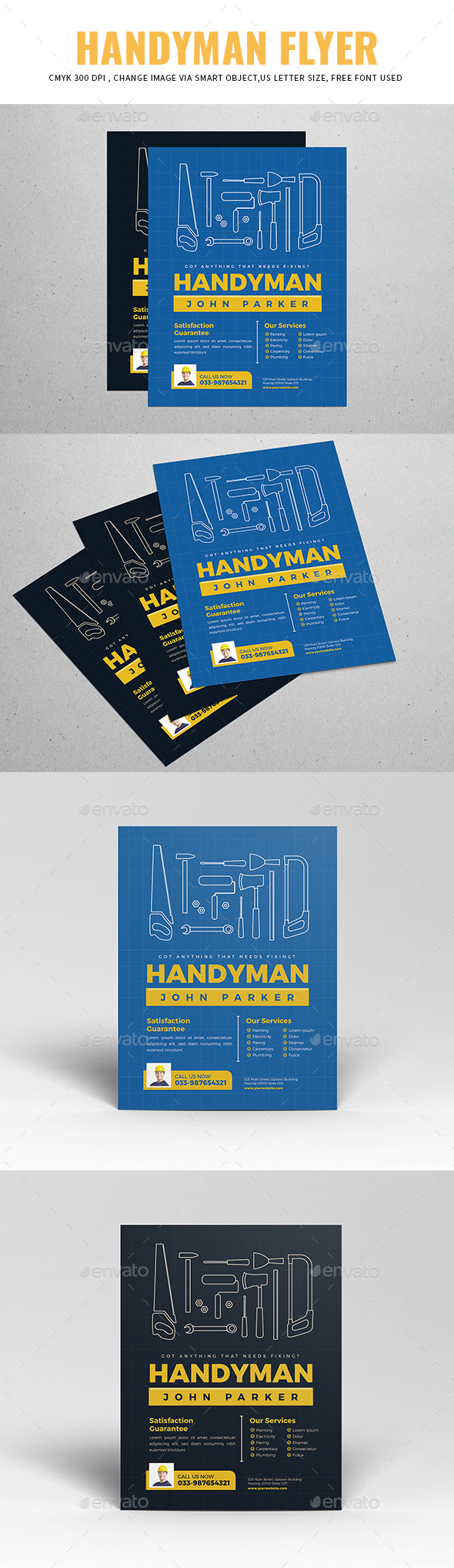 Handyman Flyer - Flyers Print Templates