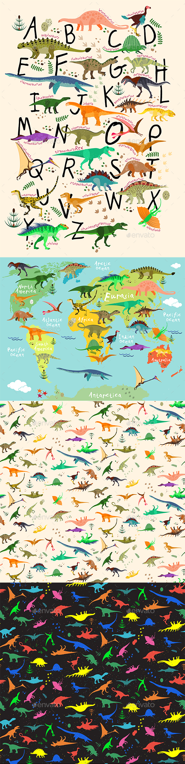 GraphicRiver Dino Collection 20333490