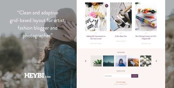 Demi: Grid-Based Blog Template - Blogger Blogging