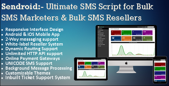 Sendroid:- Bulk SMS Software/Script with Mobile App for Bulk SMS Resellers & SMS Marketers - CodeCanyon Item for Sale