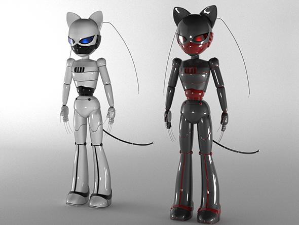 Robot Cat - 3DOcean Item for Sale