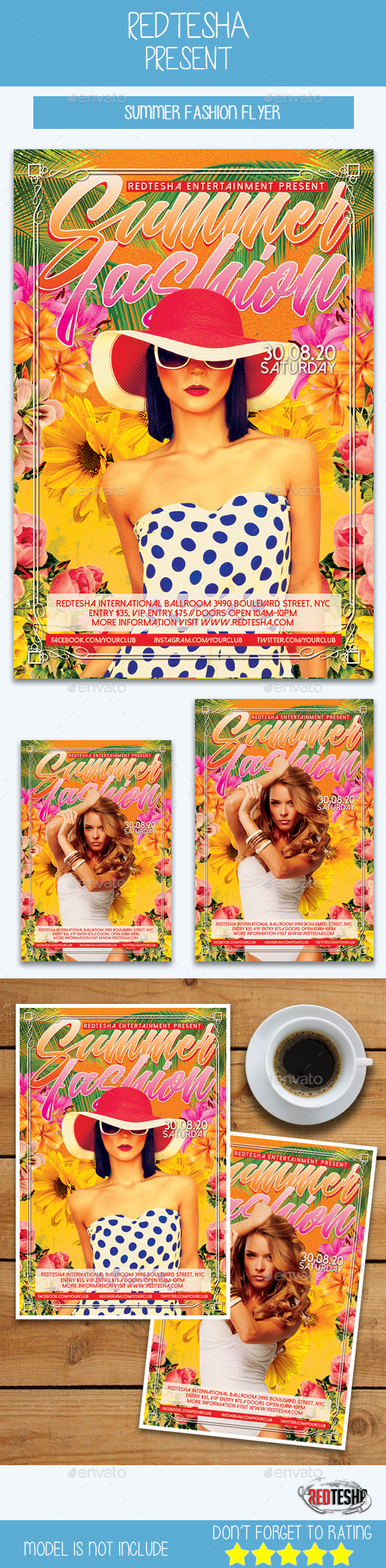 Summer Fashion - Events Flyers