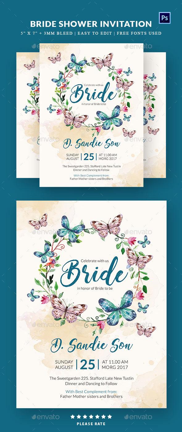 GraphicRiver Bridal Shower Invitation 20333867