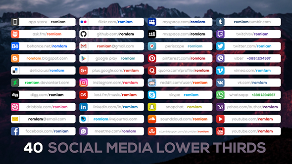 Videohive - Social Media Lower Thirds 20334014