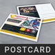 Automobile Post Card Template