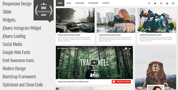 Patika - Responsive Blog HTML Template