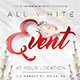 All White Event Flyer - GraphicRiver Item for Sale