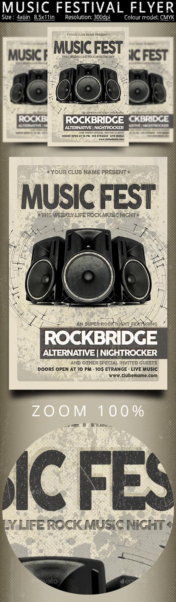 GraphicRiver Music Festival Vintage Flyer Poster 20334719
