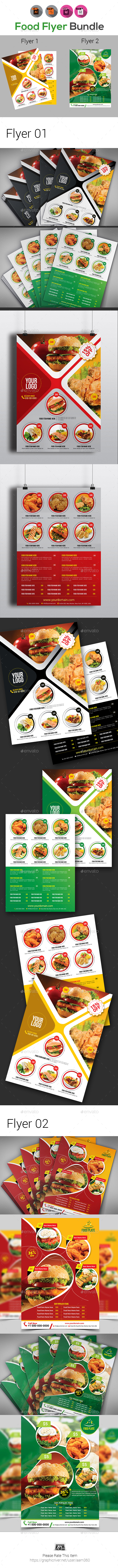 Food Flyer Bundle Templates - Restaurant Flyers