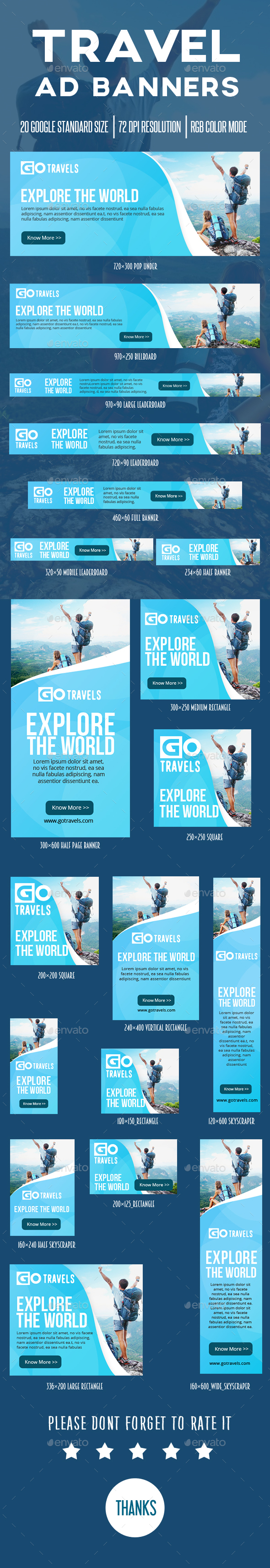 Travel Ad Banner - Banners & Ads Web Elements