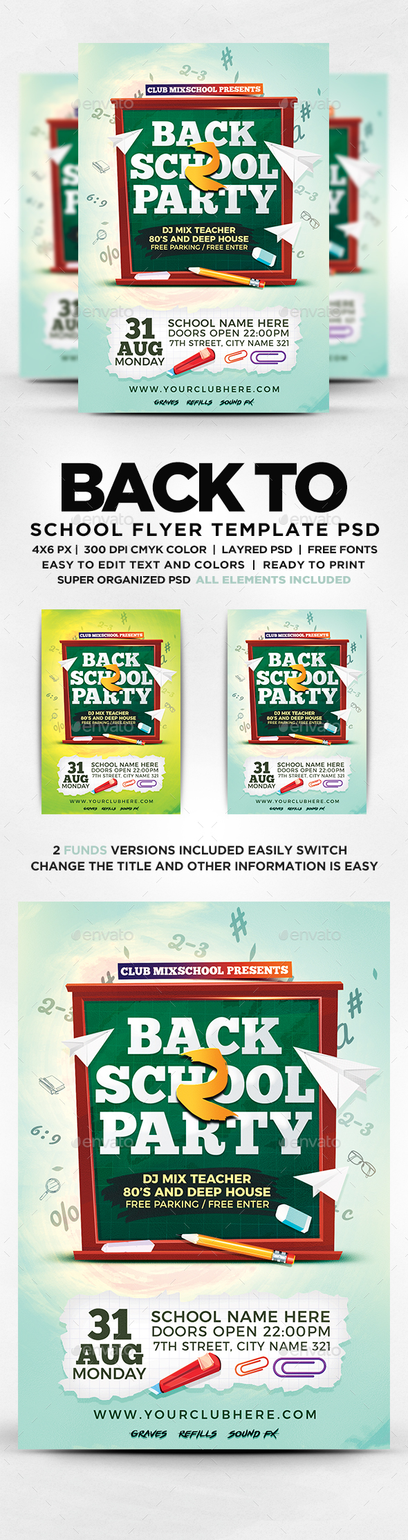 GraphicRiver Back To School Party 20334915