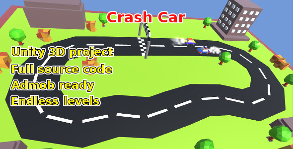 Crash Car, Unity game source code - CodeCanyon Item for Sale