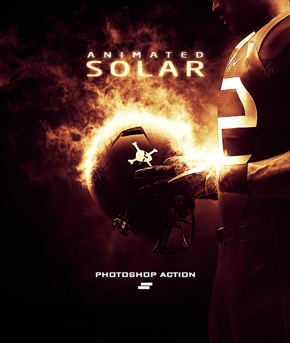 Gif Animated Solar Effect Photoshop Action - Photo Effects Actions