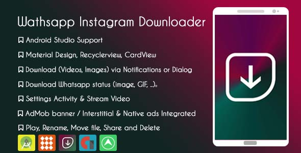 Whatsapp Instagram Downloader