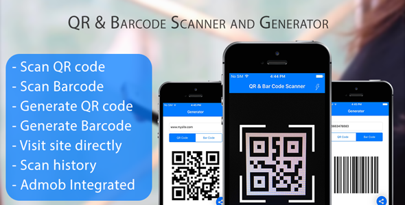 CodeCanyon QR Code & Barcode Scanner and Generator for iOS Swift with AdMob 20280521