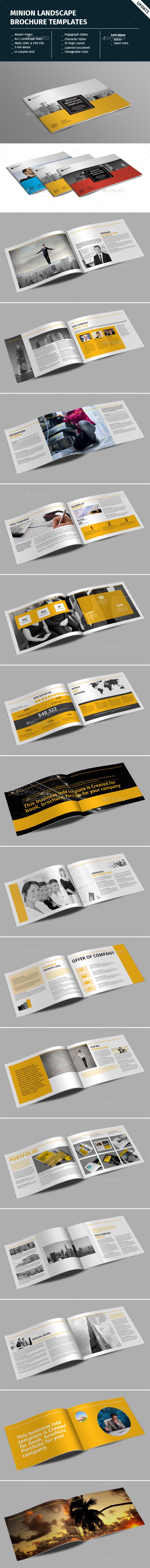 Minion Landscape Brochure Templates - Corporate Brochures