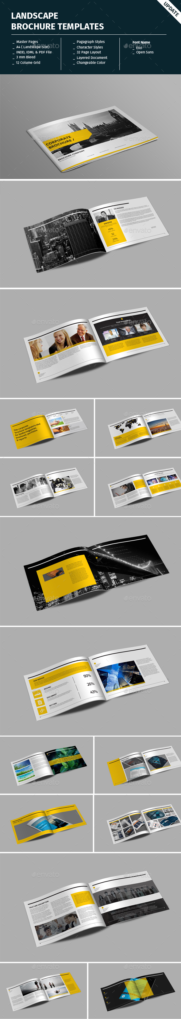 Landscape Brochure Templates - Informational Brochures