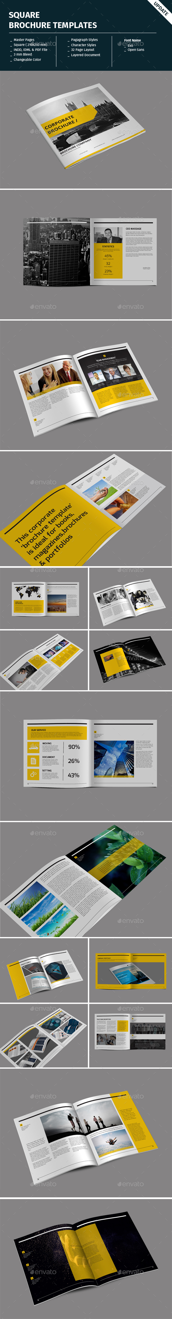 Square Brochure Templates - Corporate Brochures