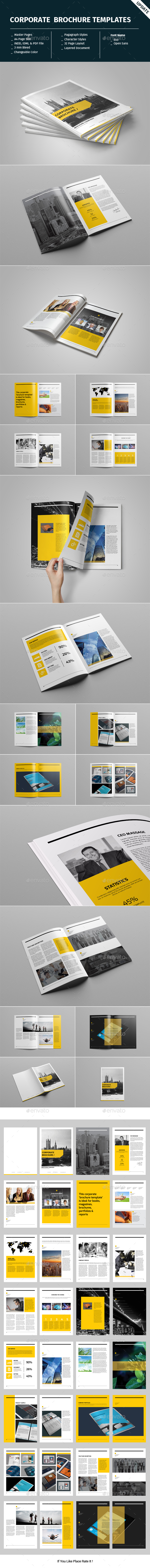 Corporate Brochure Template - Informational Brochures