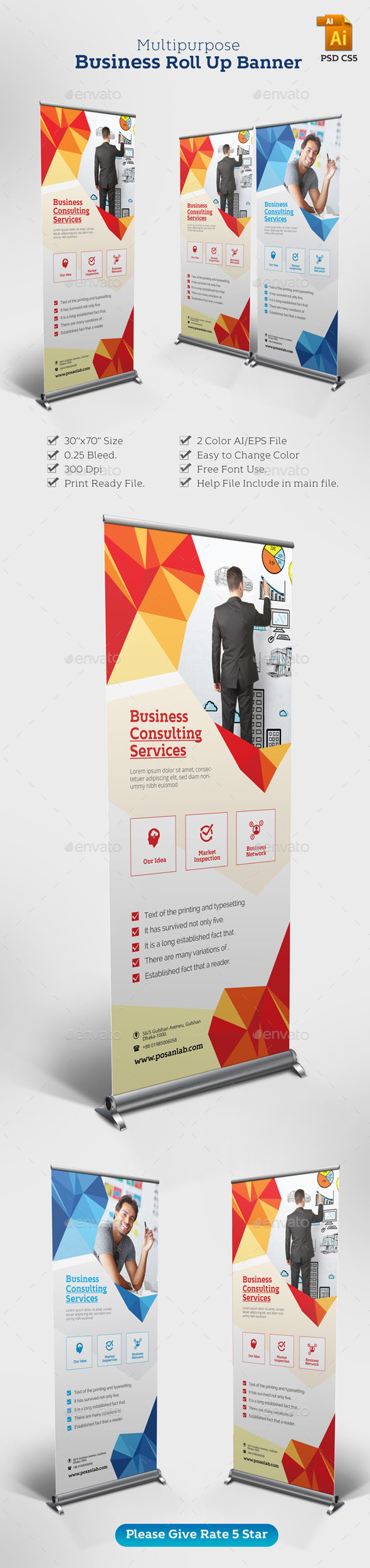 Corporate Professional Roll up Banner - Corporate Flyers