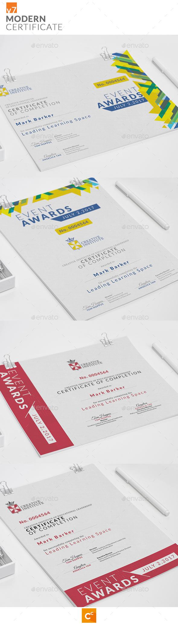 Modern Certificate v7 - Certificates Stationery