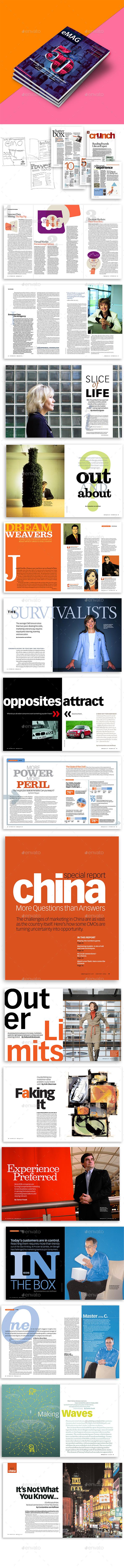 Newburn Marketing / Technology Magazine  InDesign Template - Magazines Print Templates
