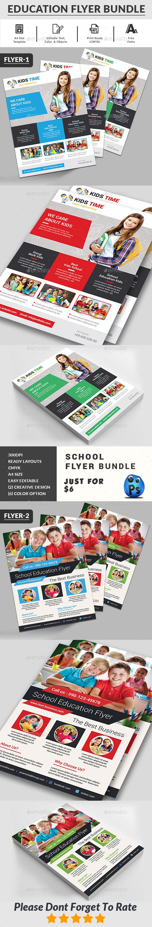 School Flyers Bundle - Corporate Flyers