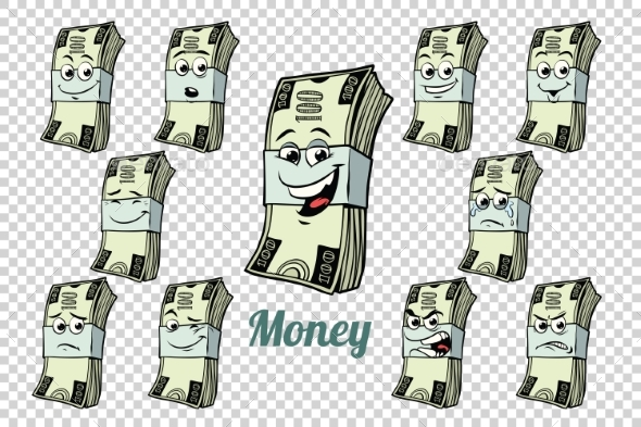One Hundred Dollars Cash Packing Emotions - Business Conceptual