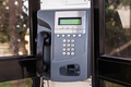 close up of the public pay phone