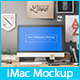 Professional iMac Workplace / Workspace / Workstation Mockups