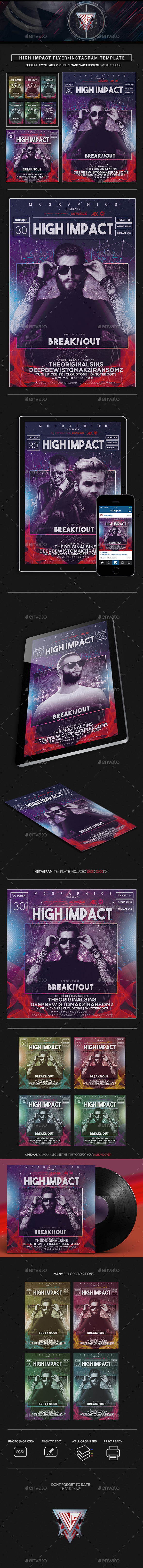 High Impact  Flyer/Instagram Template - Flyers Print Templates