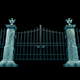 Stone Column And Metal Gates - VideoHive Item for Sale