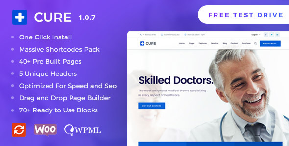 Medical Cure - Health and Medical WordPress Theme - Health & Beauty Retail