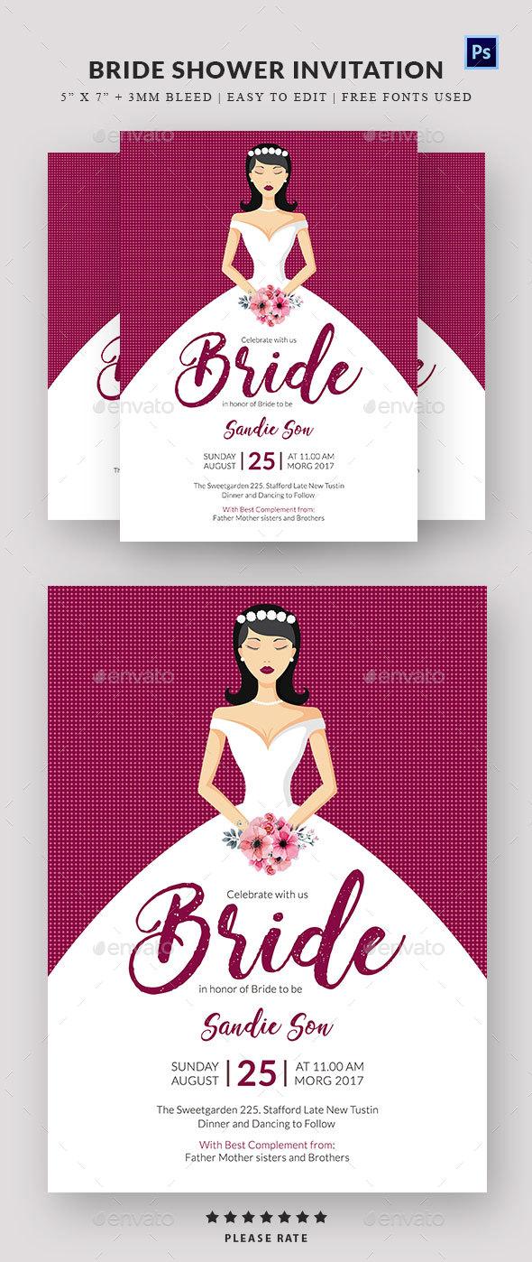 Bridal Shower Invitation - Invitations Cards & Invites