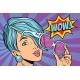 Sunglasses Pop Art Woman Wow Reaction
