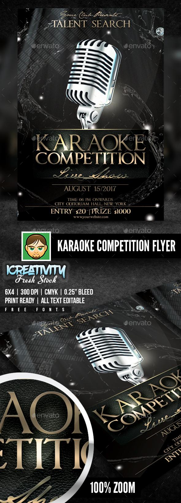 Karaoke Competition Flyer - Flyers Print Templates