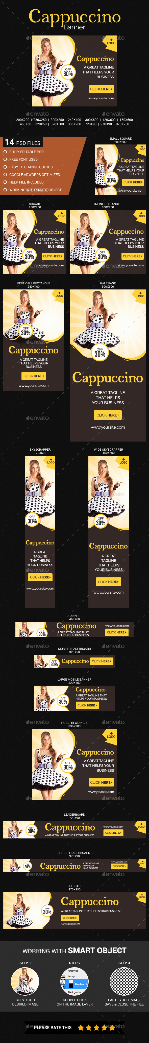 Cappuccino Banner - Banners & Ads Web Elements