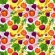 Seamless Pattern of Different Vegetables