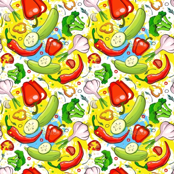 GraphicRiver Seamless Pattern of Different Vegetables 20336869