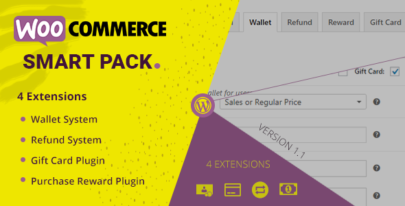 CodeCanyon WooCommerce Smart Pack Gift Card Wallet Refund & Reward 20265145