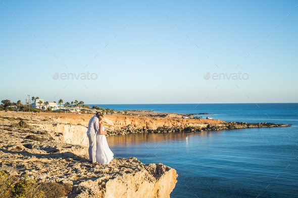 Man And Woman Walking Seaside Sea Ocean Holiday Travel - Stock Photo - Images